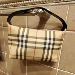 Authentic Burberry Small Classic Plaid Tote